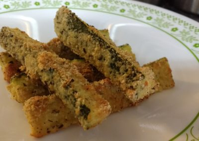 Crusty Zucchini Wedges